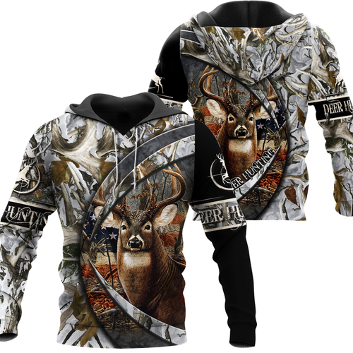 DEER HUNTING CLOTHES MENS WOMENS CAMO AMERICAN FLAG 3D ALL OVER PRINT NQS87 T-SHIRT, LONG SLEEVE, HOODIE, ZIP UP HOODIE, TANK TOP PLUS SIZE PQB