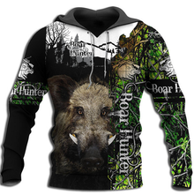 Load image into Gallery viewer, Wild Boar hunting 3D all over print shirt, Hoodie, long sleeve, coat, tank top Plus size - NQS88