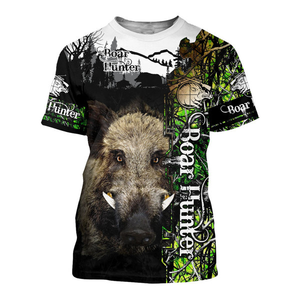Wild Boar hunting 3D all over print shirt, Hoodie, long sleeve, coat, tank top Plus size - NQS88