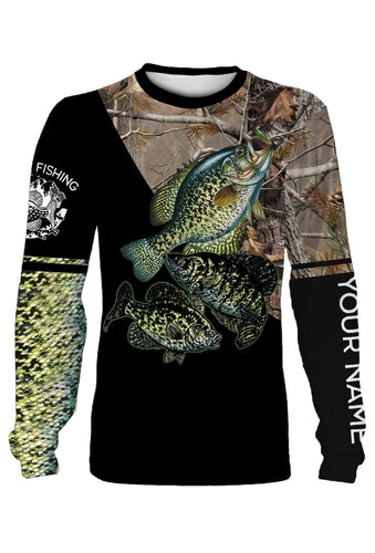 Crappie fishing shirts personalized custom fishing shirts PQB5