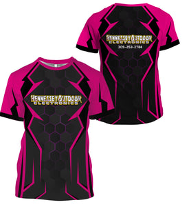 Pink - Hennessey Outdoor Electronics all over full printing shirt and hoodie