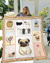 Load image into Gallery viewer, Pug Dog Cute Fleece Blanket