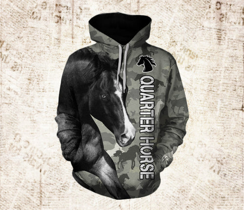 Quarter Horse Full Printing Shirt and Hoodie - IPH570
