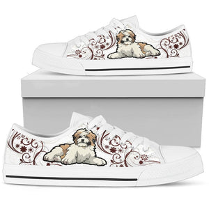 Shih Tzu Women'S Low Top Shoe - SPFTA001