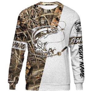 Lahontan Cutthroat Trout Customized fishing tattoo camo all-over print long sleeve, T-shirt, Hoodie, Zip-up hoodie - FSA10