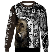 Load image into Gallery viewer, Personalized boar hunter camo muddy full printing shirt and hoodie - TATS21