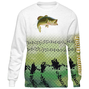 Personalized bass fishing 3D full printing shirt for adult and kid