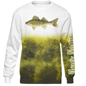 Personalized walleye fishing 3D full printing shirt for adult and kid - TATS23