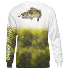 Load image into Gallery viewer, Personalized walleye fishing 3D full printing shirt for adult and kid - TATS23