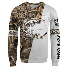 Load image into Gallery viewer, Lahontan Cutthroat Trout Customized fishing tattoo camo all-over print long sleeve, T-shirt, Hoodie, Zip-up hoodie - FSA10