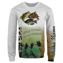 Load image into Gallery viewer, Personalized Missouri Crappie Bass Catfish fishing 3D full printing shirt for adult, kids - TATS55