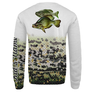 Personalized crappie fishing 3D full printing shirt for adult and kid - TATS12