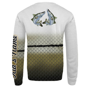 Personalized snook fishing 3D full printing shirt for adult and kid - TATS32