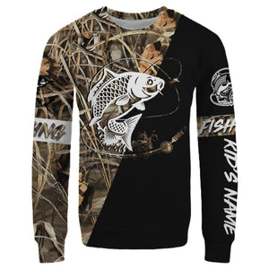 Carp Personalized fishing tattoo camo all-over print long sleeve, T-shirt, Hoodie, Zip up hoodie - FSA6B Black version