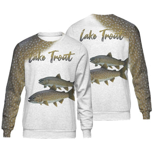Lake trout fishing full printing