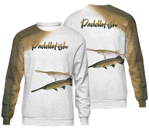 Paddlefish fishing full printing