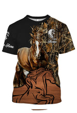 Load image into Gallery viewer, Personalized love horse full printing shirt, all over print long sleeves, hoodie, zip up hoodie