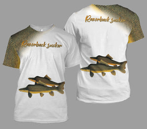 Razorback sucker fishing full printing