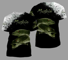 Load image into Gallery viewer, Muskie 3D Black All Over Printed Shirts For Men & Women