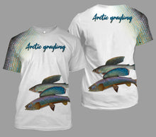 Load image into Gallery viewer, Arctic grayling fishing full printing