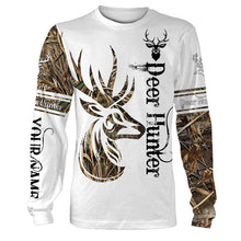 Load image into Gallery viewer, Tattoo camo deer hunter full printing customize shirt, all over print hoodie, zip up hoodie