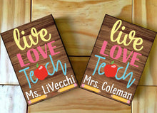 Load image into Gallery viewer, Live love teach customize name Canvas - 3DQ82
