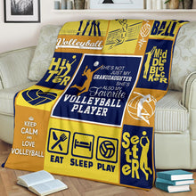 Load image into Gallery viewer, Volleyball player fleece blanket
