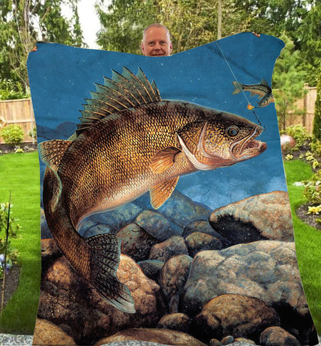 Walleye Fleece Blanket
