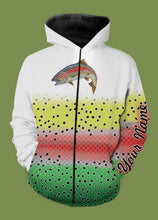Load image into Gallery viewer, Personalized rainbow trout fishing 3D full printing shirt for adult and kid - TATS54