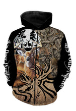 Load image into Gallery viewer, Personalized deer hunting full printing shirt, all over print long sleeves, hoodie, zip up hoodie