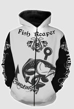 Load image into Gallery viewer, Fish reaper carp fishing full printing shirt and hoodie - TATS39