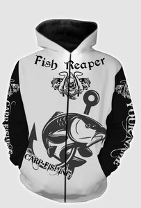 Fish reaper carp fishing full printing shirt and hoodie - TATS39