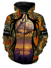 Load image into Gallery viewer, Deer Hunting clothes horn loop orange 3D all over print shirt, hoodie, coat zip up, tank top plus size NQS94 PQB