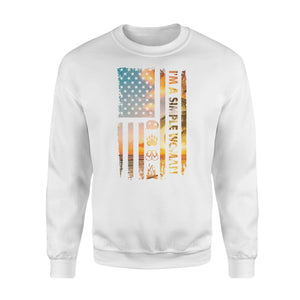 I'm a simple woman American flag camping symbols camping shirt - QTS100