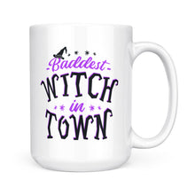 "Load image into Gallery viewer, Funny Custom Halloween mug ""Baddest witch in town"" - awesome Halloween Customize gift ideas for sisters, best friends - best personalized present to give - IPH2047"