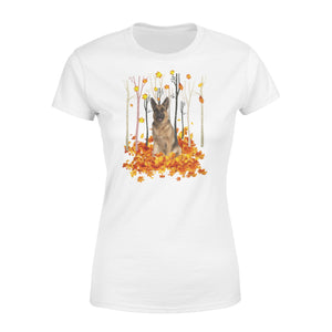 Fall season German Shepherd Dog women T shirt - IPH487