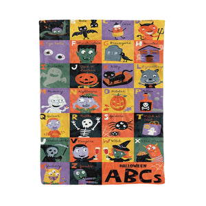Halloween ABCs Fleece Blanket, Gift for teacher - QTS4