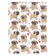 Load image into Gallery viewer, Pug Love Fleece Blanket