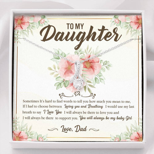 To my daughter - You will always be my baby girl necklace - Gift from Dad