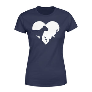 Love Pitbull print women T shirt design - IPH390