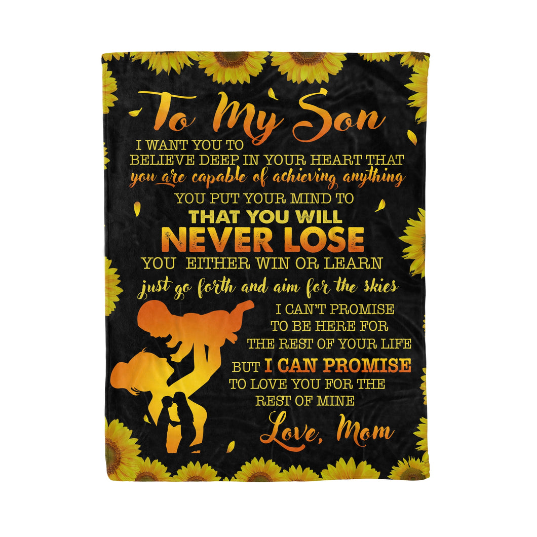 To My Son Throw Fleece Blanket birthday gifts for son - NQS52 DRS