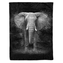 Load image into Gallery viewer, Elephant Fleece Blanket