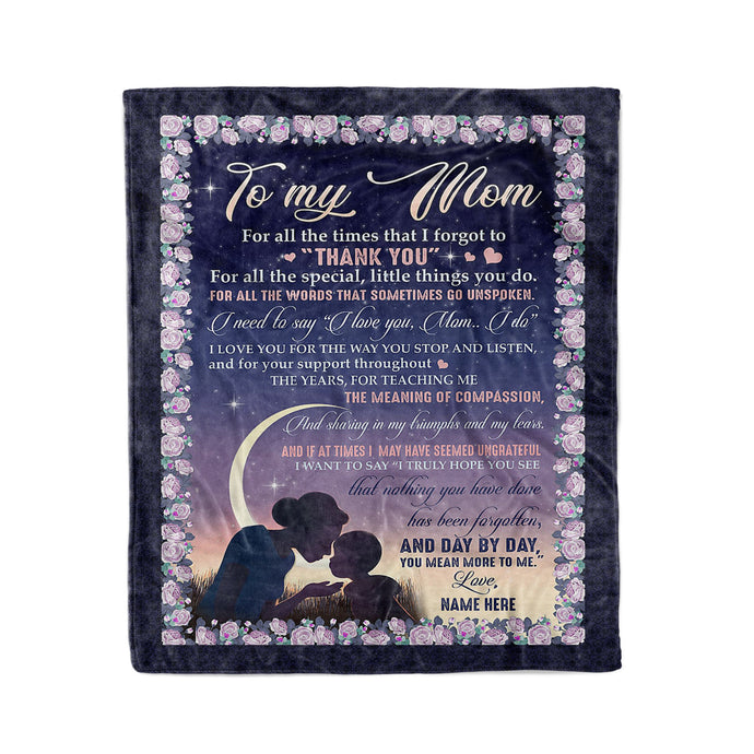 To my mom Custom Fleece Blanket - personalized sentimental unique happy Mother's day, birthday, Christmas gift ideas for mom from son DRS - IPHZ31