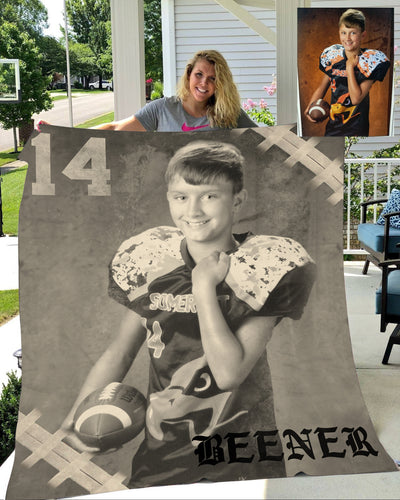 Personalized football blankets with custom football blanket