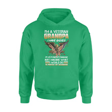 Load image into Gallery viewer, I'm a Veteran grandpa, I would do to protect my grandkids, gift for grandfather NQS773 - Standard Hoodie