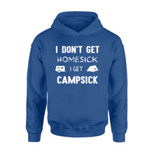 Load image into Gallery viewer, I don't get homesick, I get campsick, funny Camping Shirt - QTS81