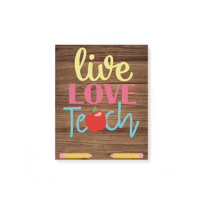 Live love teach customize name Canvas - 3DQ82