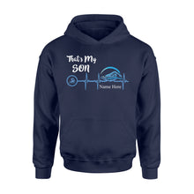 Load image into Gallery viewer, Swimming that's my son shirt and hoodie