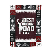 Load image into Gallery viewer, Best Buckin Dad Ever Fleece Blanket