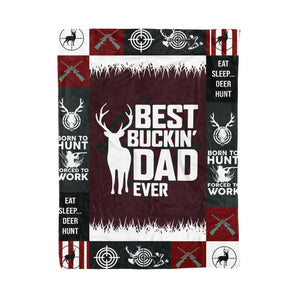 Best Buckin Dad Ever Fleece Blanket